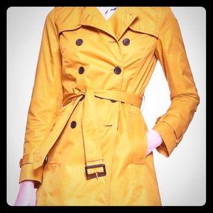 Banana Republic Trench Coat Yellow Gold